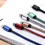 熱い販売法アンドロイドのためのナイロンファブリック8 Pin USBケーブル
