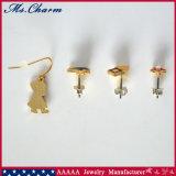 Gli orecchini d'imitazione della vite prigioniera del fiore della perla della Camera del lupo del cappuccio hanno impostato 4PCS/Set