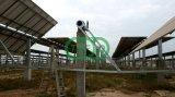 강철 구조물을 거치하는 태양 농장