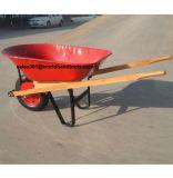 Brouette en bois Wh5400 de construction de poignée de qualité
