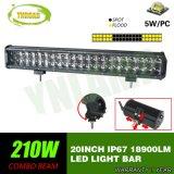 Offroad를 위한 크리 사람 20inch 210W 4D 반사체 LED 똑바른 표시등 막대