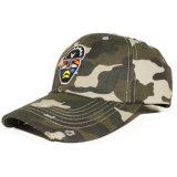 安い刺繍されたCamoの野球帽