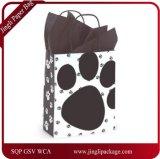 犬の足の小犬プリントペーパー中型の買物客のギフト袋