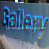 Sinal Backlit Polished da letra do aço inoxidável do espelho
