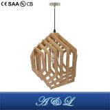 Lâmpada artística de madeira do pendente para a sala de visitas