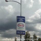 Lamp Pole Solar Outdoor Banner LED Publicidade Light Box