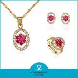 ルビー(SH-J0045)が付いている金によってめっきされる流行の宝石類