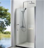 écran de douche de pièce jointe de douche de pivot de Frameless en verre Tempered de sûreté