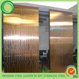 espejo 8k que graba al agua fuerte los paneles decorativos del acero inoxidable para la puerta del elevador