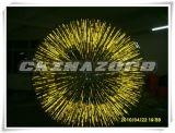 Color completamente amarillo magnífico Zorb inflable que brilla intensamente