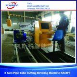 Estaca da tubulação do CNC do aço inoxidável e máquina de chanfradura com estaca de flama do plasma
