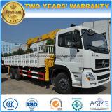 LHD Dongfeng 6*4 10 바퀴 고품질은 기중기 트럭으로 트럭 12 톤 거치했다