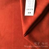 Polyester 100% à la maison décoratif de tissu de cuir de suède de textile avec le support