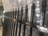 Garrison Tubular Pickup Fence Panels 2100mm X 2400mm Stain Black Powder Crimped Spears