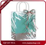 Sac d'emballage blanc de empaquetage peint d'achats de Papier d'emballage de vêtement fait sur commande de taille de clients de Posies