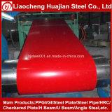 Bobine en acier enduite par couleur ondulée du matériau de toiture PPGI