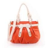 Bolsa de couro genuíno Mulheres Casual Top Handle Shoulder Tote Bag