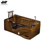 Jacuzzi acrilica della bolla di aria dei bagni dell'angolo della vasca da bagno di massaggio con affissione a cristalli liquidi Liftable TV