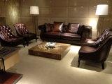 Mobília do sofá de Chesterfield do vintage da cor de Brown da qualidade superior