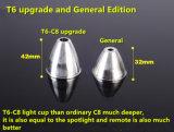 CREE-U2 brillante LED linterna recargable del aluminio LED de 2600 lúmenes