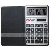 8 Digits Dual Power Pocket Calculator mit Black Wallet Cover (LC303B)