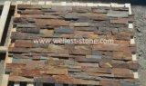 صدئة أردواز جدار [كلدّينغ] حجارة قشرة, كون حجارة لأنّ [إإكستريور ولّ], ماء سمة, عمود