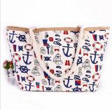 O saco nacional da praia das senhoras da tendência do saco de ombro das senhoras do vento da lona nova do saco