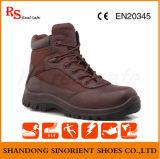 Red Cow Split Couro Sapatos de segurança para oficina, sapatos de segurança