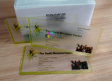 Impressora digital de alta qualidade com cartão de visita transparente transparente geada