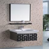 Vanité bon marché de salle de bains de mur d'acier inoxydable avec l'étagère