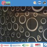 Hoja de acero inoxidable del final de la rayita del color con la ISO del SGS