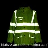 Куртка дождя безопасности с ANSI107 (C2442)