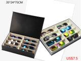 Caso de indicador de couro do MDF Eyewear da qualidade para os ofícios óticos da mão do presente da jóia do espetáculo dos óculos de sol (X031)