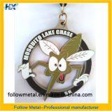 Kundenspezifische Medaille mit gewesen Firmenzeichen 5k, Zink-Legierung, weicher Decklack