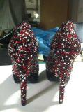 Chaussures de robe neuves de dames de talon haut de type (HCY02-1488)