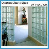 Ясный стеклянный кирпич, стеклянный блок для здания и украшение