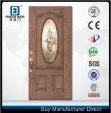 Fangda Woodgrain verzierte Glas-Außenfiberglas-Tür