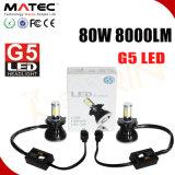 lampe H11 H4 H7 9005 d'éclairage LED d'ÉPI de 80W 8000lm nécessaire de phare de 9006 DEL