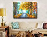 Olieverfschilderij van het Landschap van het Landschap van de Herfst van fabriek direct Wholesale100% het Met de hand gemaakte op Canvas