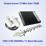 усилитель сигнала Tri полосы 1800MHz 2100MHz 2600MHz клетчатый