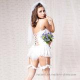 Белый Sleepwear невесты шнурка