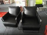 1 Cbm por o sofá do escritório do jogo, sofá do couro do frame de aço (6927)
