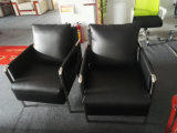 1 Cbm pro Set-Büro-Sofa, Stahlrahmen-Leder-Sofa (6927)