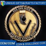 Moneda de encargo del metal del oro de la insignia