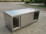 Het Meubilair van de Keuken van het Roestvrij staal van de douane, Keukenkast