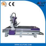 Máquina de gravura pneumática do CNC de 4 linhas centrais do router de madeira do CNC Acut-1325