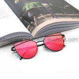Óculos de sol elegantes por atacado de Metail da personalidade da lente do espelho