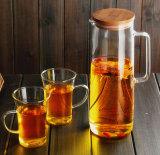 Bella teiera di vetro del POT del caffè della bottiglia di vetro del POT della spremuta della brocca di vetro di POT