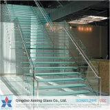 Vidrio claro de Temperated para los pasos de progresión de la escalera