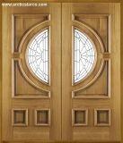 Portello di legno solido dell'impiallacciatura interna con stile moderno